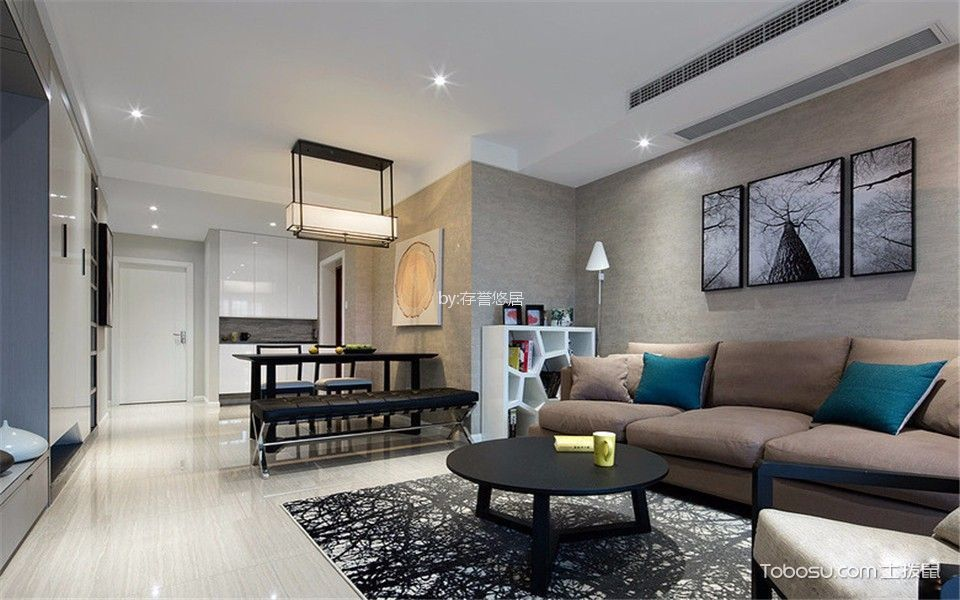 客厅白色走廊现代风格装修效果图