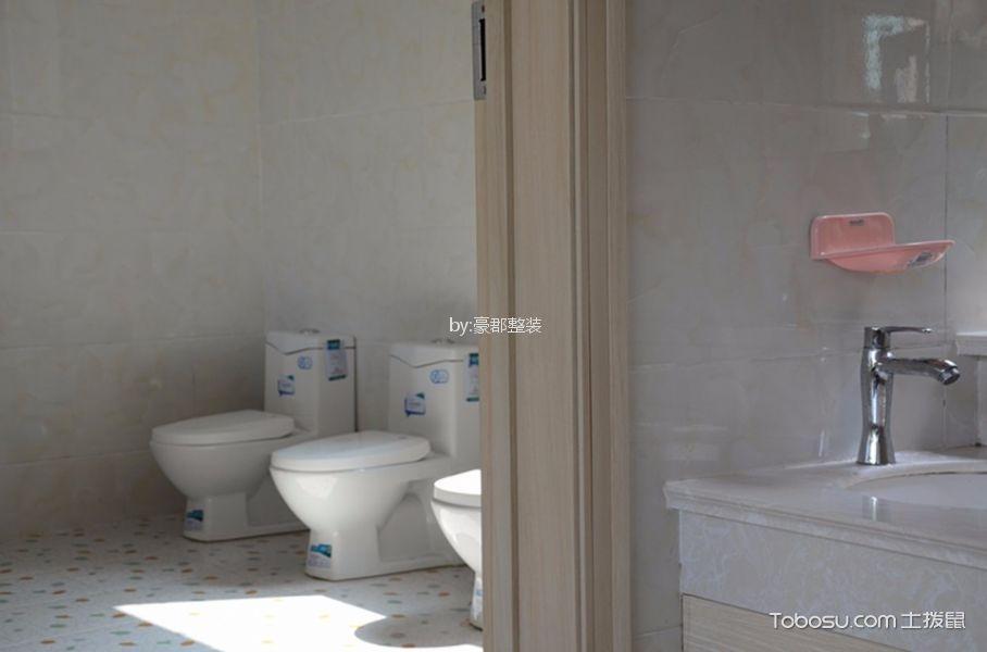 现代简约风格幼儿园卫生间洗漱台装修图片