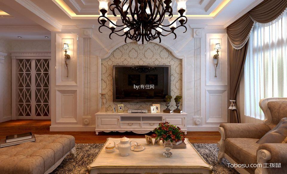 客厅 电视柜_27万预算160平米四室两厅装修效果图