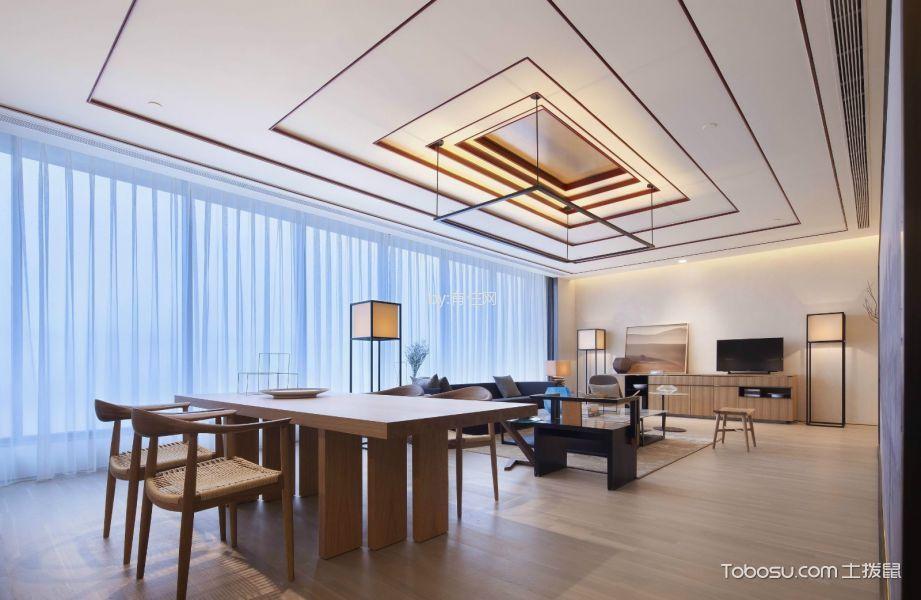 130平米新中式风格三室两厅装修效果图