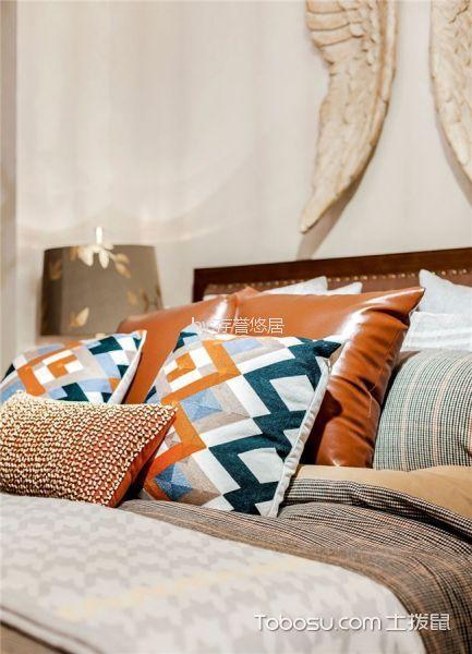 卧室米色细节美式风格装修设计图片