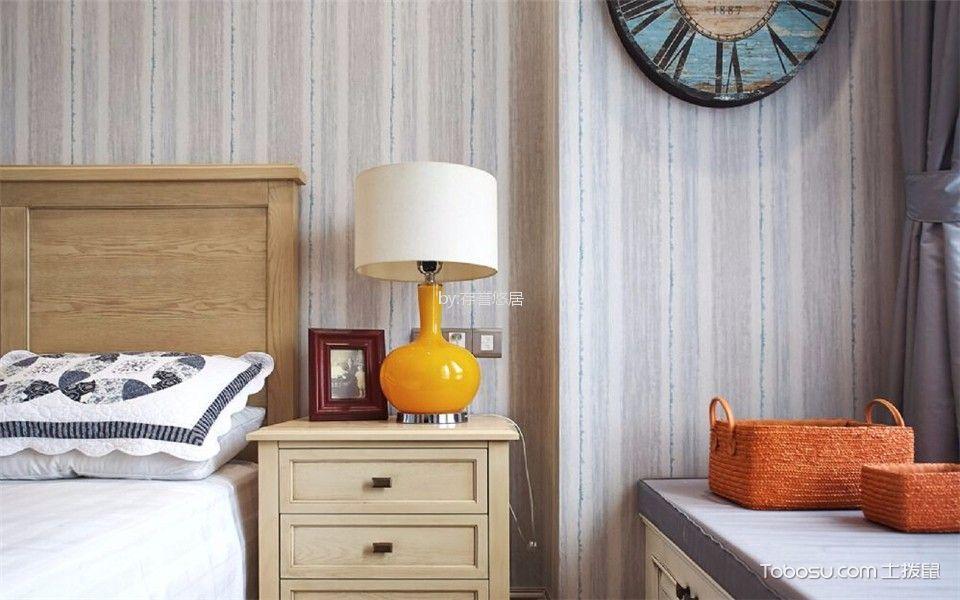 卧室米色细节美式风格装潢图片