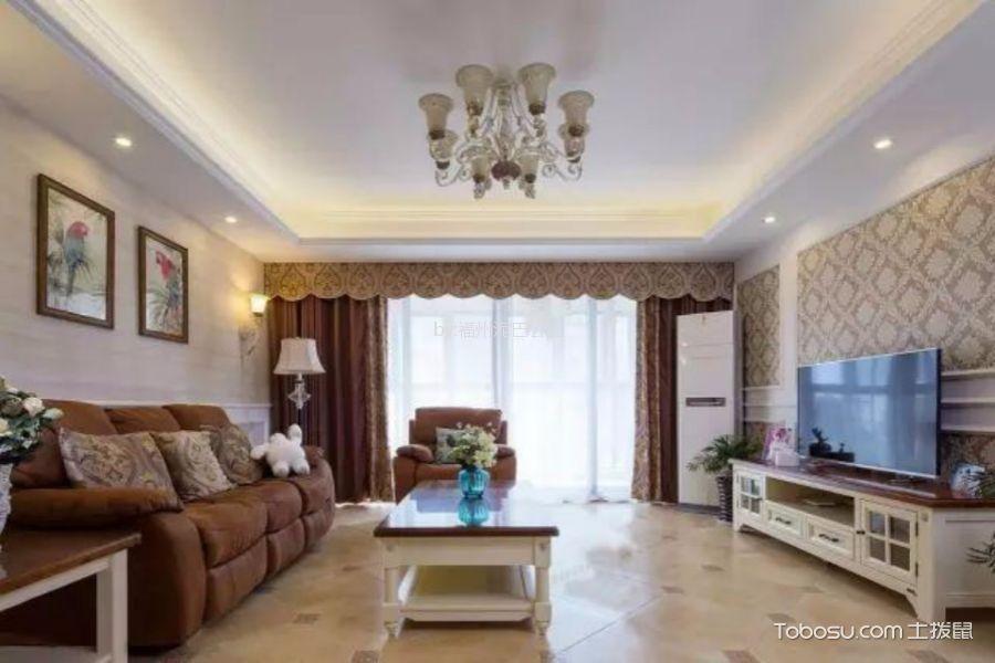 齐安新苑3室2厅1厨1卫90平欧式风格