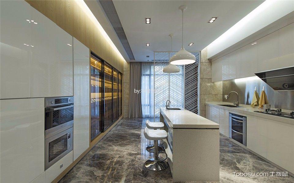 厨房 吊顶_蔚蓝天地147平方现代简约风格大户型装修效果图