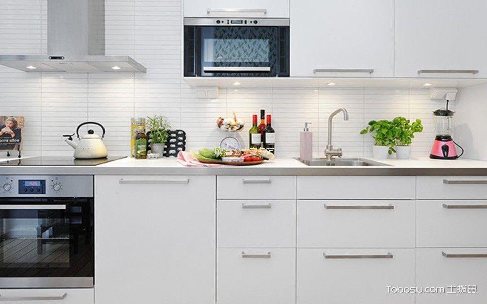 厨房白色橱柜简单风格装饰效果图
