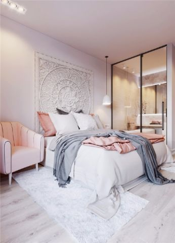 卧室推拉门北欧风格装修图片