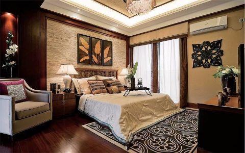 客厅推拉门东南亚风格装修图片