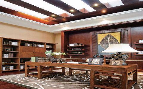 书房吊顶东南亚风格装饰图片