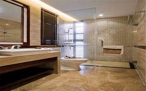 卫生间隔断东南亚风格装潢图片