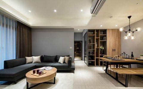 海伦路100平现代风格二居室装修效果图
