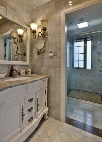 衛生間浴室柜美式裝飾設計圖片