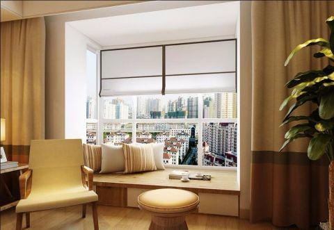阳台榻榻米现代简约风格装潢图片