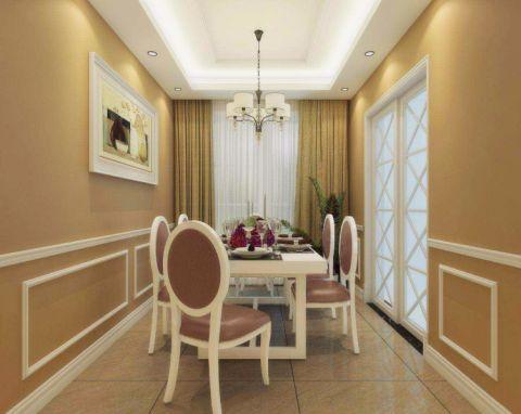 餐厅窗帘简欧风格装修图片