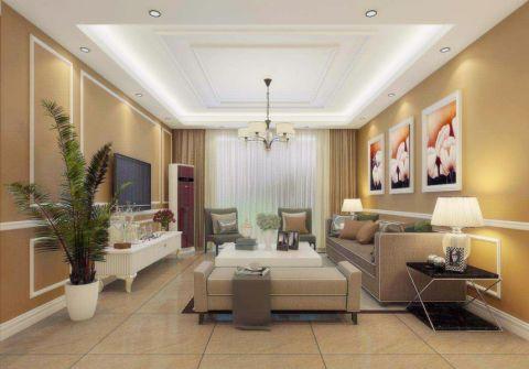 9万预算150平米三室两厅装修效果图