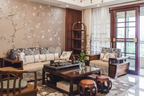 客厅彩色背景墙混搭风格装饰图片