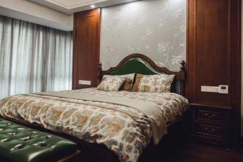 卧室彩色背景墙混搭风格装潢图片