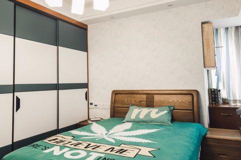 卧室白色吊顶混搭风格装修效果图
