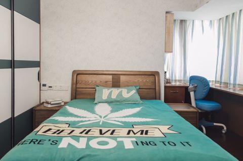 卧室白色吊顶混搭风格装饰效果图