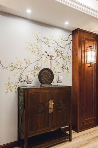 玄关彩色门厅混搭风格装潢效果图