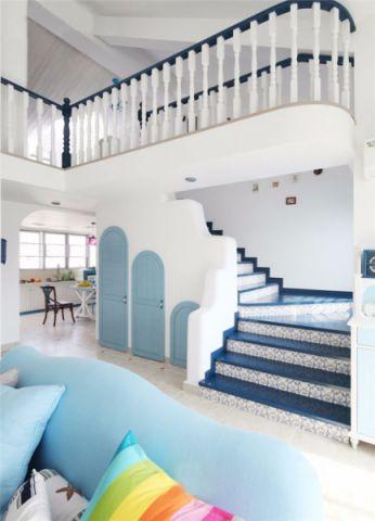 玄关楼梯地中海风格装饰设计图片