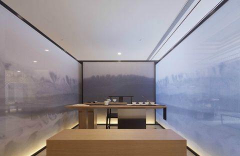 书房背景墙新中式风格装饰设计图片