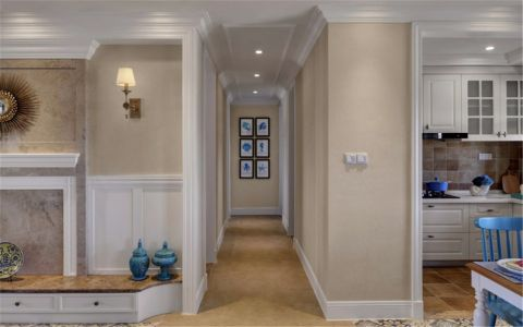 玄关走廊田园风格装饰效果图