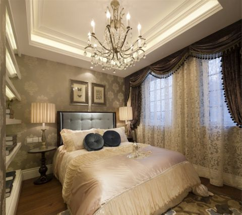 卧室窗帘法式风格效果图
