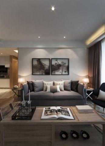 客厅沙发简约风格装修设计图片