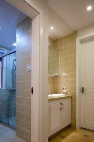 卫生间推拉门欧式风格装修设计图片