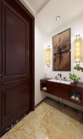 玄关背景墙中式风格装潢设计图片