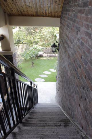 阳台楼梯混搭风格装潢设计图片