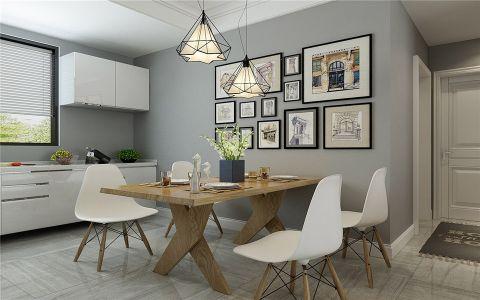 餐厅餐桌现代风格装潢效果图