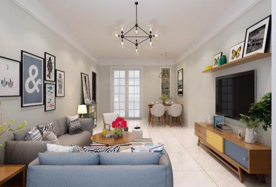 2室1卫1厅123平米现代简约风格