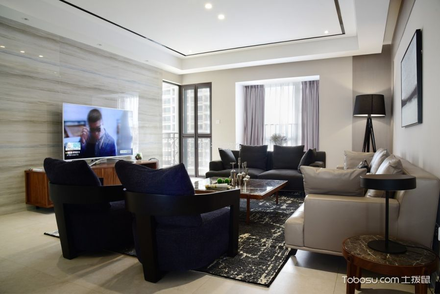 18万预算135平米公寓装修效果图