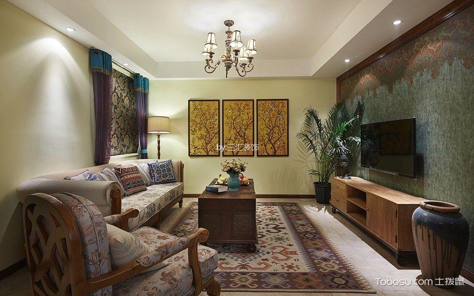 东南亚风格四室两厅装修效果图