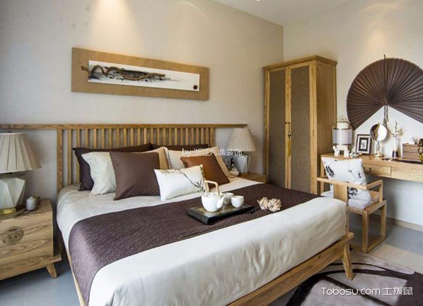 卧室米色梳妆台新中式风格装修设计图片