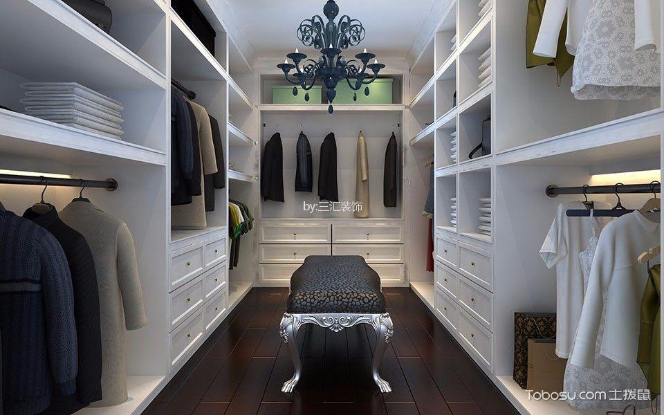 衣帽间白色衣柜现代简约风格效果图