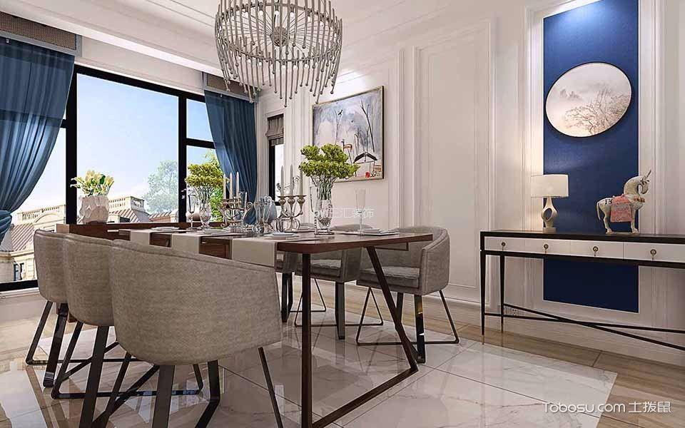 120平米三居室现代简约风格装修效果图