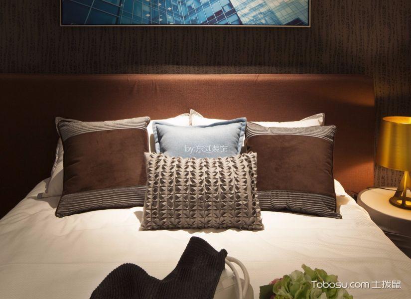 卧室咖啡色细节现代简约风格装潢图片