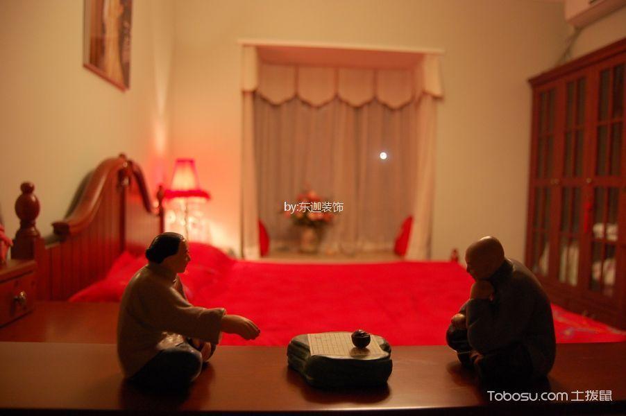 卧室咖啡色细节美式风格装饰设计图片