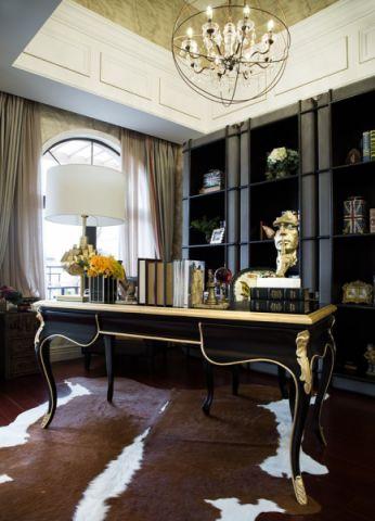 书房博古架混搭风格装潢设计图片