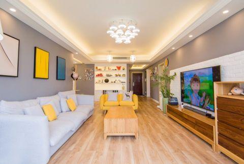 12万预算89平米两室两厅装修效果图