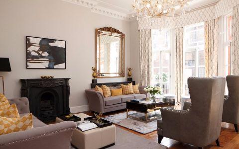 客厅背景墙新古典风格装饰效果图