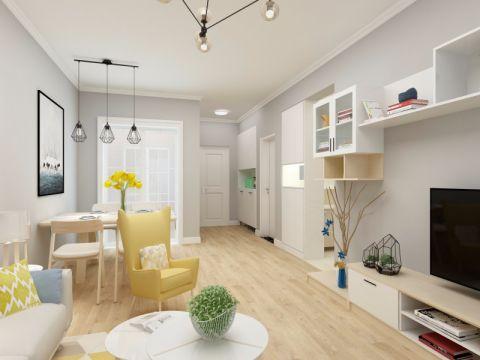 北欧风格的居家家具,浅淡的色彩、洁净的清爽感,让居家空间得以彻底降温。客厅空间的布置重点在于家  典型现代瑞典一居室 典型现代瑞典一居室 具的选购与色彩以及布品的搭配,协调、对称的技巧,让每一个细节的铺排,都呈现出令人感觉舒适的气氛。