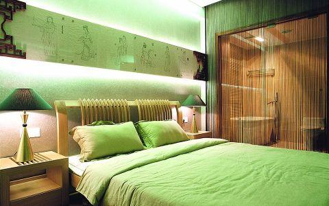 卧室床新中式风格效果图