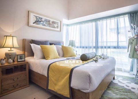 卧室床新中式风格装饰设计图片