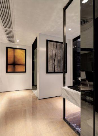 玄关背景墙现代简约风格装潢图片