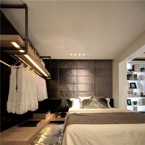 卧室博古架现代简约风格装修设计图片