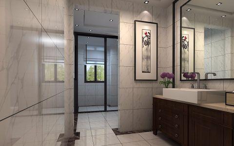 卫生间洗漱台现代简约风格装潢效果图
