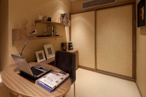 书房推拉门简约风格装潢设计图片